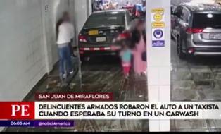 SJM: delincuentes roban auto a hombre que esperaba su turno en un carwash