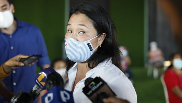 """""""En lo personal, considero que haber solicitado la vacuna para su esposa me parece una gran falta de empatía y solidaridad con la población"""", señaló Fujimori Higuchi. (Foto: César Bueno / @photo.gec)"""