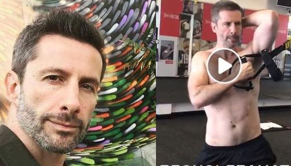 Marco Zunino con sus ejercicios en Facebook. (Video: FB)