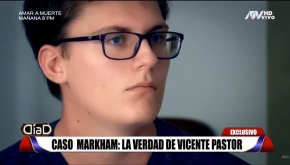 Vicente Pastor, ex estudiante del colegio Markham (Captura: Día D).