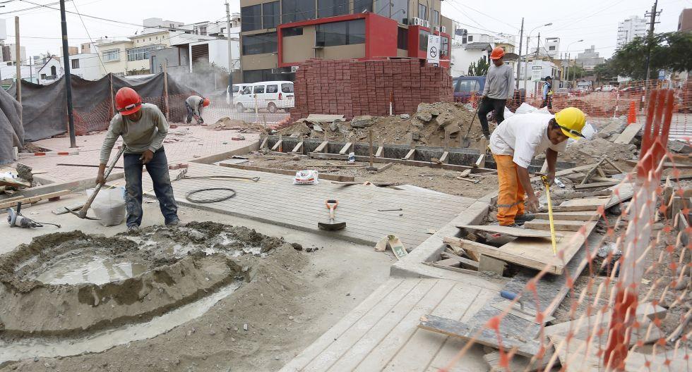 Obras de mejoramiento de pistas y veredas se realizarán hasta marzo del 2020. (Foto referencial: El Comercio)