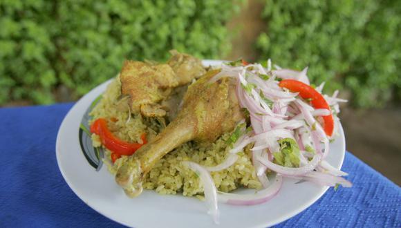 El arroz con pollo es un plato bandera de la gastronomía del Perú. (Foto: Archivo GEC)