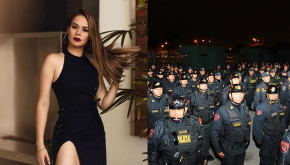 Jossmery Toledo se pronuncia sobre investigación a 513 policías por buscar sus datos personales. (Fotos: Instagram @jossmerytol/ Ministerio del Interior)
