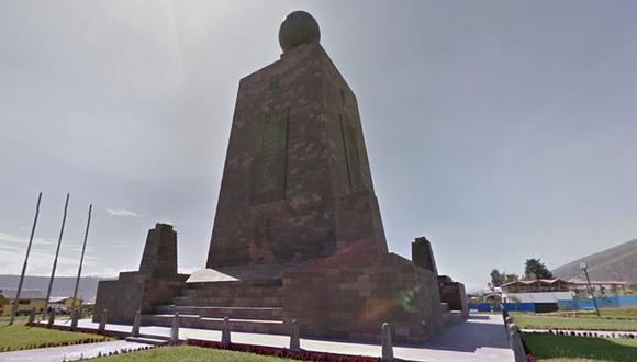 El Monumento de la Mitad del Mundo es uno de los principales atractivos turísticos de Quito, la capital de Ecuador | Foto: Google Street View