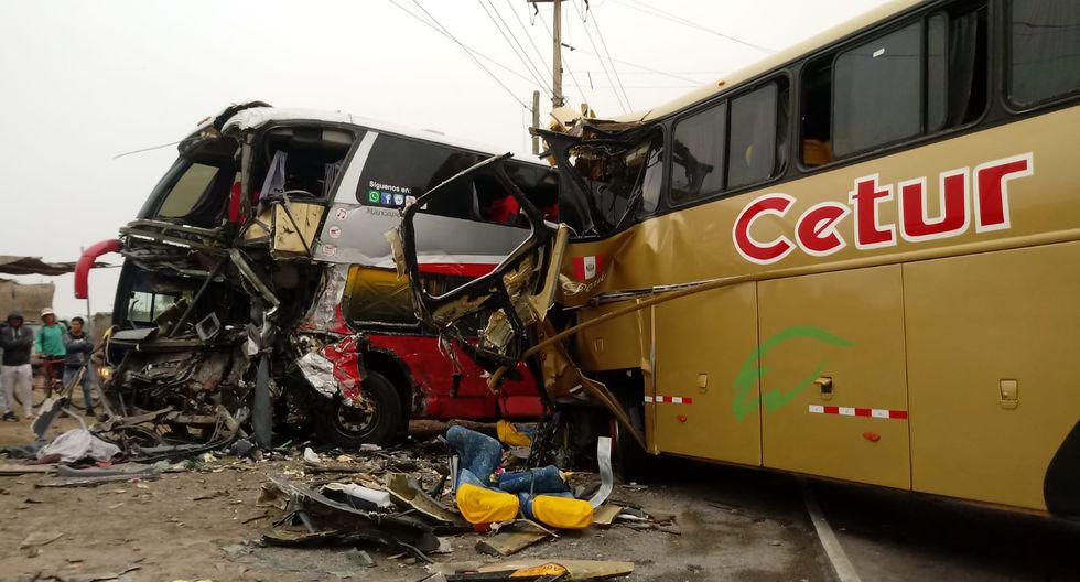 El accidente se registró hoy, a las 3:15 a.m., en el kilómetro 450 de la carretera Panamericana Norte. (Foto: Laura Urbina)