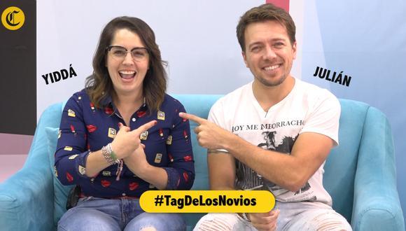Yiddá Eslava y Julián Zucchi juegan el #TagDeLosNovios