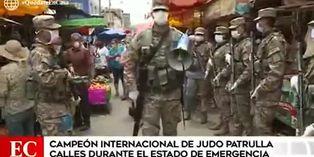 Coronavirus en Perú: conoce al campeón de judo que hoy patrulla las calles