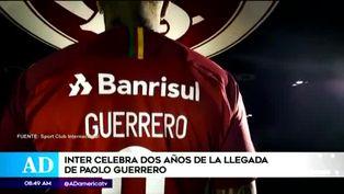 Paolo Guerrero cumple dos años con Inter de Porto Alegre