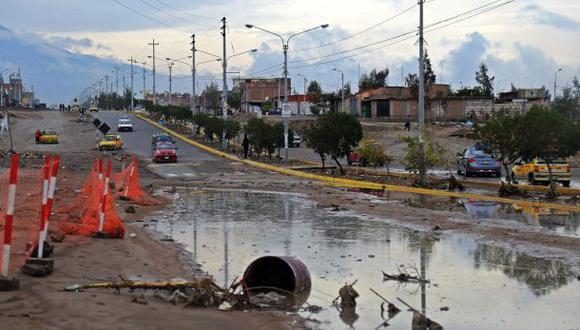 Precipitaciones afectan viviendas en Arequipa
