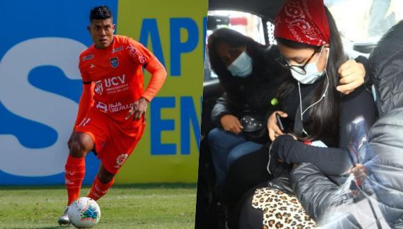 Izquierda: Raziel García. Derecha: Familiares de la víctima, Zaraí Quispe Chávez de 19 años. Foto: Andina