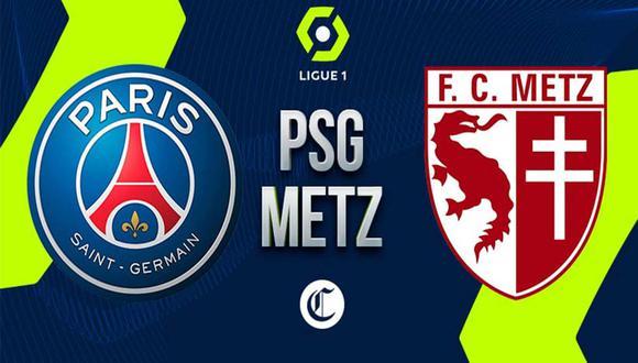 PSG visitó a Metz por la Ligue 1 de Francia sin Lionel Messi | Foto: GEC.