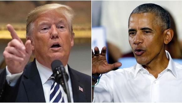 Donald Trump vs Barack Obama, en la recta final de las elecciones legislativas en Estados Unidos (Foto: )