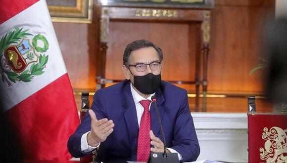 El presidente Martín Vizcarra pidió al Congreso actuar con responsabilidad al comentar la ley aprobada para la devolución a los aportantes de la ONP. (Foto: Presidencia Perú)