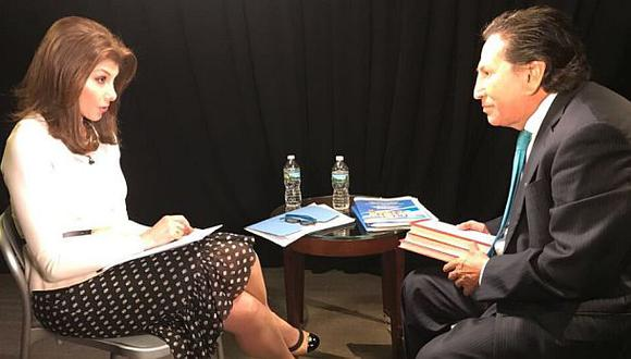 """""""[Cómo quieren que vaya] si no me comunican y no tengo impedimento de salida, y no le comunican de esto a mí o a mis abogados"""", reclamó Alejandro Toledo en diálogo con CNN en Español. (Foto: Patricia Janiot)"""