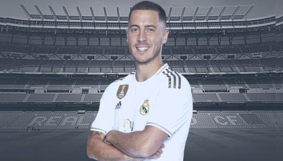 Real Madrid: Eden Hazard tendrá nuevo dorsal, según la página oficial del club. (Foto: Real Madrid)