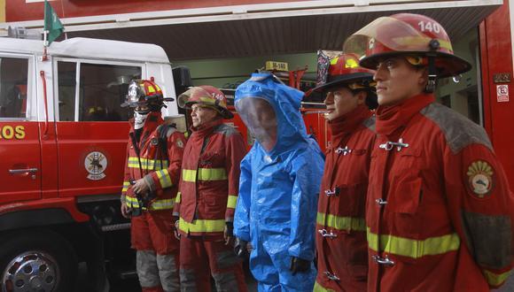 Un total de 198 bomberos voluntarios en Huánuco aún no reciben la dosis contra el COVID-19, por otra parte, en Pasco, 54 hombres de rojo se encuentran a la espera de ser inoculados (Foto: Archivo GEC)