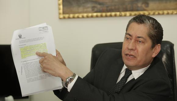 Eloy Espinosa-Saldaña dijo que el 19 de noviembre empezará el debate sobre Keiko Fujimori.  (Foto: Piko Tamashiro/GEC)