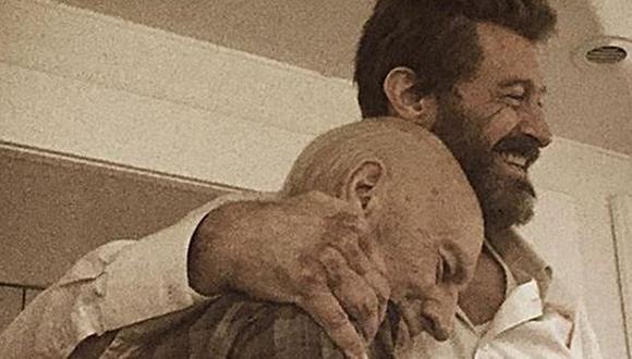 Facebook: Hugh Jackman se despidió así de Patrick Stewart