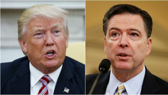 Donald Trump fue preguntado en una entrevista con la cadena Fox News sobre si exigió lealtad a Comey antes de despedirlo. (Foto: AP/Reuters)