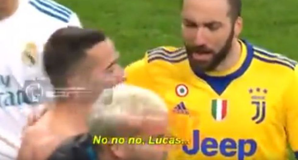 El argentino le increpa al español y fue grabado en TV. (Foto: YouTube)