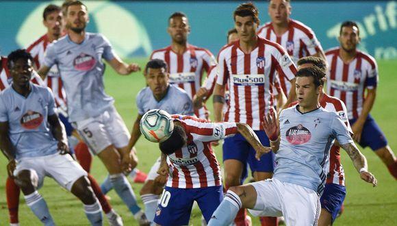 Atlético de Madrid sumó un punto en Balaídos contra el Celta de Vigo. (Foto: AFP)