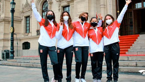 Daniella Macías, Daniella Rosas, María Belén Bazo, Ariana Orrego y María Pía Van Oortd, algunas de las representantes peruanas en Tokio. (Foto: IPD)