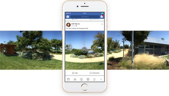 Facebook es una empresa entusiasta por el formato de videos y fotos en 360 grados. Con el desarrollo de la tecnología ha ido añadiendo soportes para los formatos multimedia inmersivos. (Foto: Facebook)