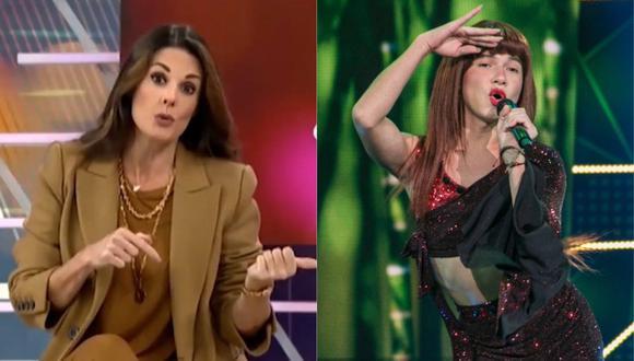 "Rebeca Escribens aconseja a la Uchulú: ""El carisma dura poco si es que no se trabaja"". (Foto: Captura de video/@elartistadelaño)"