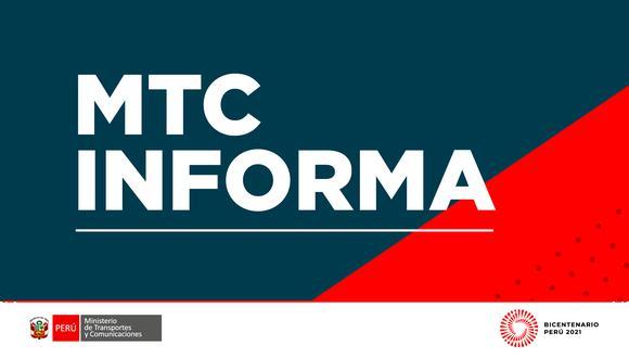 El MTC indicó que, ante las salidas de dichos funcionarios, se busca garantizar que los cargos de confianza cumplan los requisitos establecidos en las normas. (Foto: MTC)