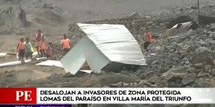 VMT: Municipalidad de Lima desaloja a invasores de terrenos en Lomas del Paraíso