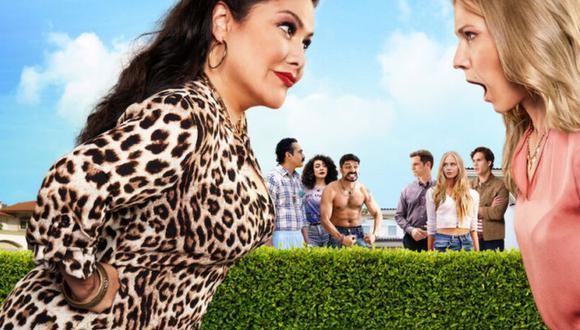 """""""Guerra de vecinos"""" es protagonizada por Vanessa Bauche y Ana Layevska, a quienes se suma un cartel importante de actores conocidos en México y gran parte de Latinoamérica (Foto: Netflix)"""