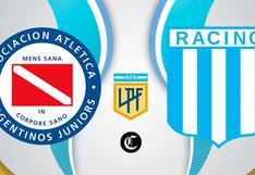 Argentinos Jrs. vs. Racing Club en vivo: hora, TV y posibles formaciones
