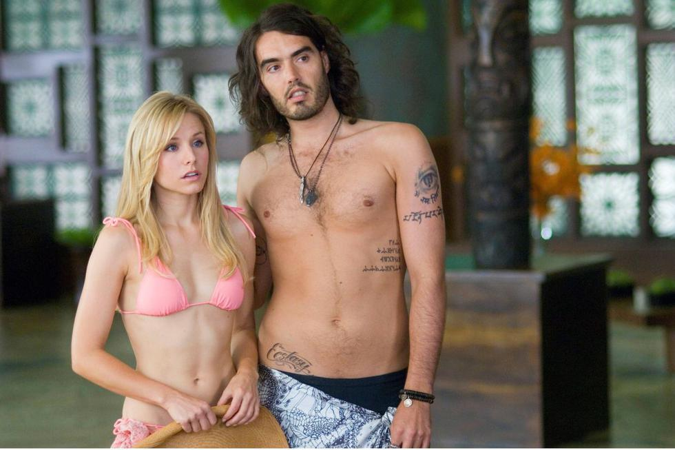 """The actress played Sarah Marshall in """"Forgetting Sarah Marshall"""" (2008), alongside actor Russell Brand in this comedy directed by Nicholas Stoller.  (Source: Universal Pictures)"""