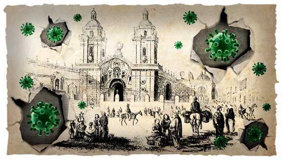 """""""Entre 1818 y 1821, en Lima y Huaura, donde se habían instalado los libertadores, estallaron epidemias de paludismo, dengue y escarlatina"""". (Ilustración: Rolando Pinillos Romero)."""