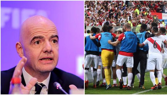 Gianni Infantino, presidente de FIFA, envió un documento a la Federación Peruana de Fútbol por la clasificación al próximo Mundial Rusia 2018. (Foto: agencias)