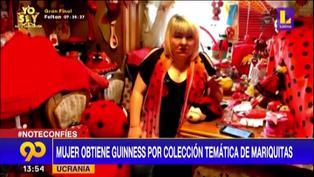Ucrania: Mujer obtiene un Récord Guinness por su colección de mariquitas