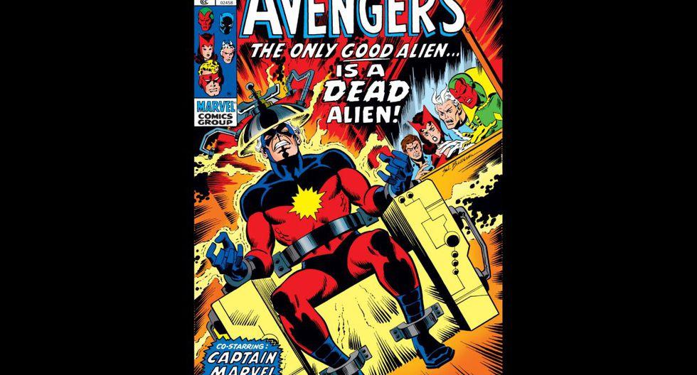 """""""Avengers: Kree-Skrull War"""" (1963) - Los Vengadores se encuentran en medio de una guerra entre dos de los imperios intergalácticos más poderosos: los Skrull y los Kree. (Fuente: Marvel)"""