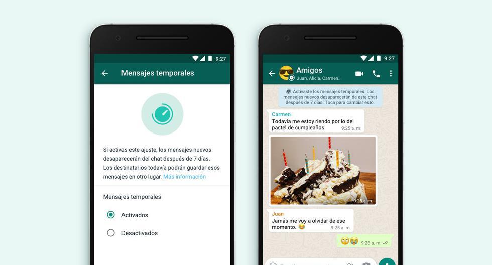 El Perú es uno de los países en los que WhatsApp ha habilitado la función de mensajes temporales. (Foto: WhatsApp)