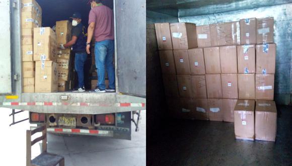 El conductor podría recibir hasta ocho años de cárcel por el presunto delito de contrabando por transportar cerca de dos millones de cigarrillos ilegales valorizados en 130 mil dólares. (Foto: PNP)