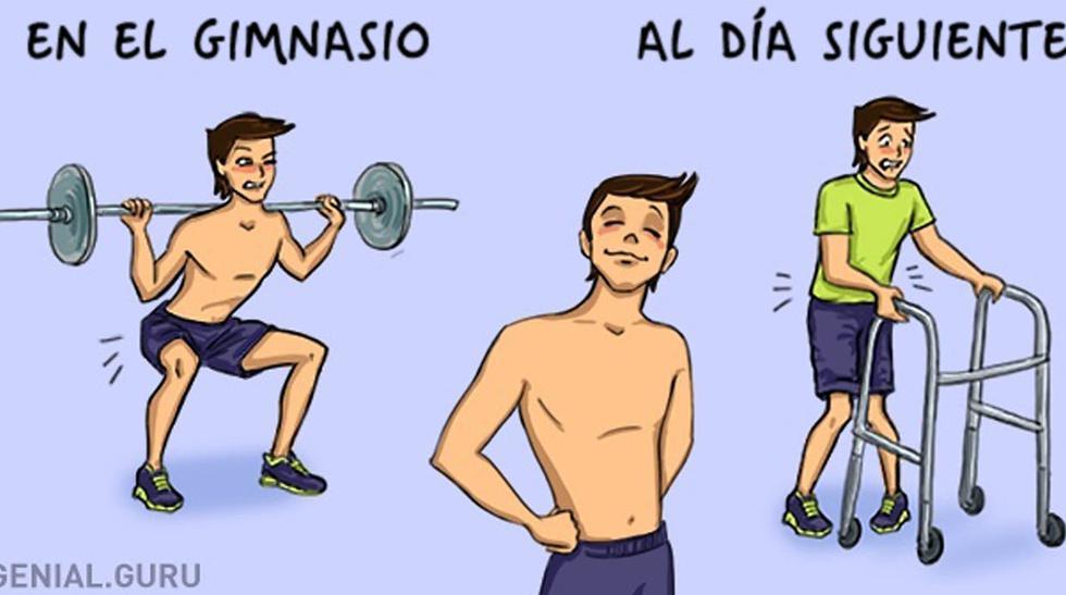 Tu primer día en el gimnasio retratado en divertidos dibujos - 4