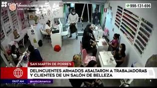 SMP: delincuentes armados asaltaron a trabajadoras y clientas de un salón de belleza