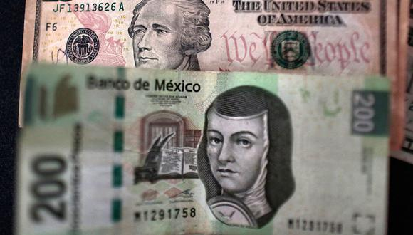 El dólar se cotizaba a 19,7453 pesos en México. (Foto: AFP)