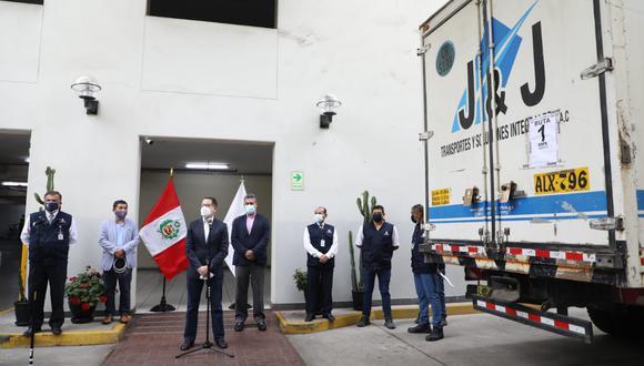 La Cancillería recibió material de la ONPE para la segunda vuelta electoral. (Foto: ONPE)
