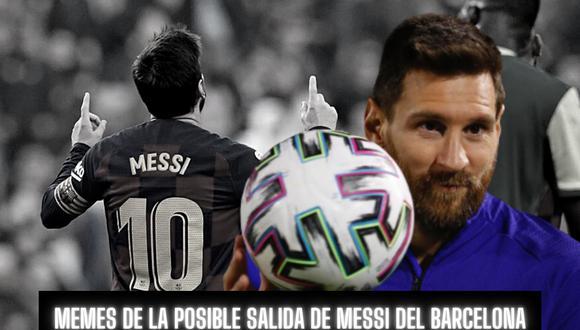 Lionel Messi se volvió tendencia por su eventual salida del Barcelona y los memes inundaron las redes sociales. | Crédito: @leomessi / Instagram / Composición.