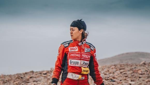 Fernanda Kanno cumplió su sueño de disputar el Dakar. (Foto: Jeyson Escalante)