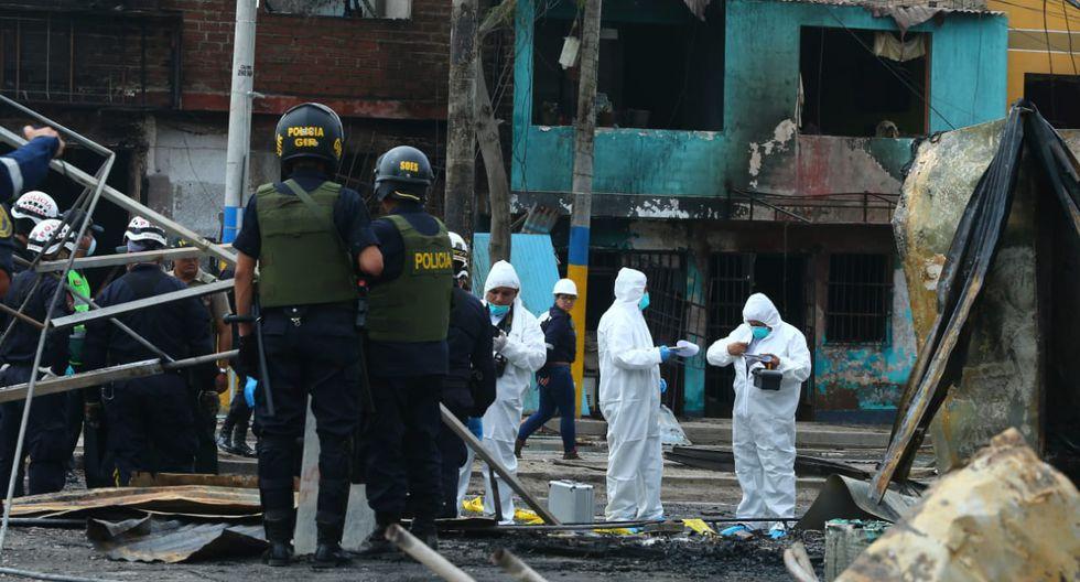 Hasta el momento son dos las personas fallecidas a consecuencia del accidente en Villa El Salvador. (Foto: Lino Chipana/GEC)