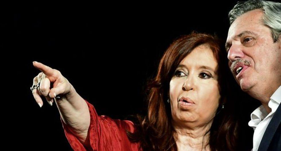 Alberto Fernández y su vicepresidenta Cristina Kirchner. (Getty Images).