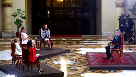 Presidente Francisco Sagasti brindó una entrevista a varios programas dominicales de televisión (Foto: Presidencia)