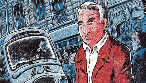 Un pasaje de la última novela de Laurent Binet, una sátira detectivesca que gira en torno a la muerte de Roland Barthes.  (Ilustración: Manuel Gómez Burns)