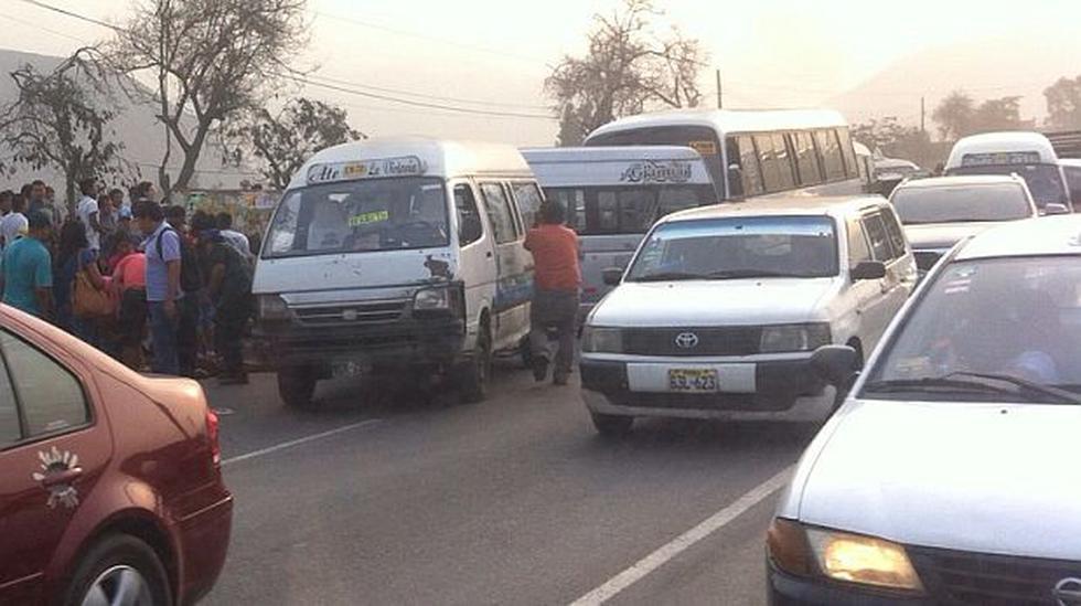 'Chosicanos' provocan triple choque en Carretera Central - 1